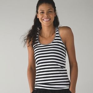 Lululemon athletica Cool Racerback Black and White